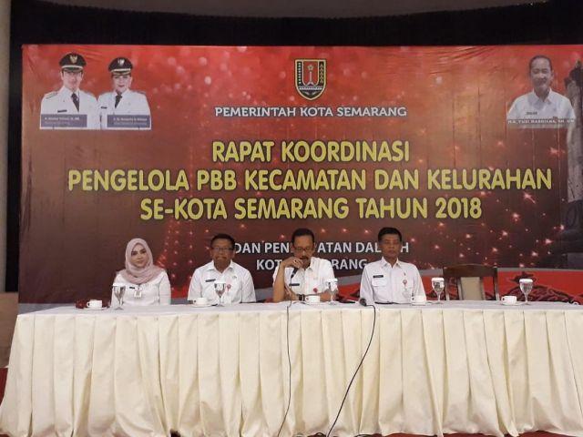 Rapat koordinasi pengelola PBB Kecamatan dan Kelurahan Se-Kota Semarang